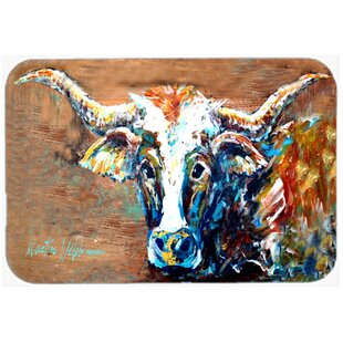 On the Loose Cow Glass Cutting Board