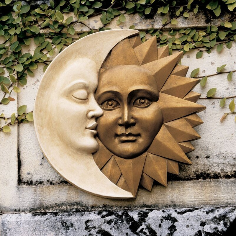 A perfect wall decoration for your porch or garden! Celestial Harmony Sun & Moon Wall Decor.