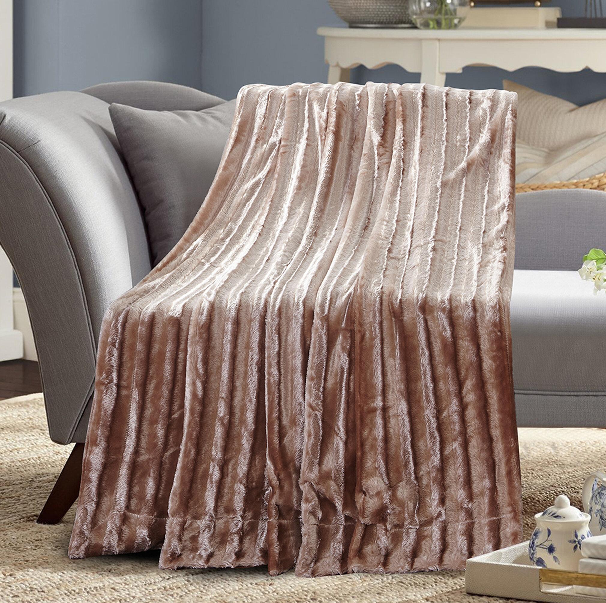 Alvarado Faux Fur Soft Blanket Reviews Joss Main