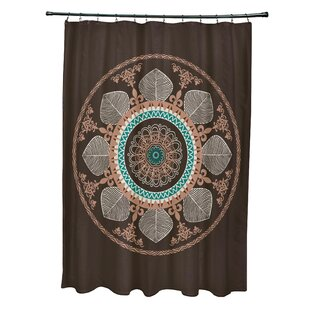 Bungalow Rose Soluri Stained Glass Print Shower Curtain