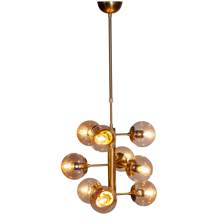 Corrigan Studio Stephon 9 Light Sputnik Modern Linear Chandelier Wayfair