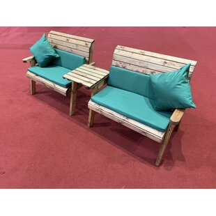 Gallo Wooden Love Seat By Union Rustic