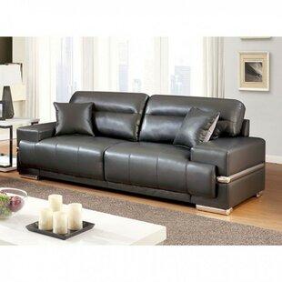 Orren Ellis Suwalski Breathable Leatherette Sofa
