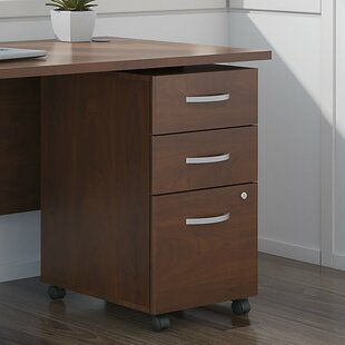 Bush Business Furniture Series C Elite Pedestal 3 Drawer Mobile Vertical File