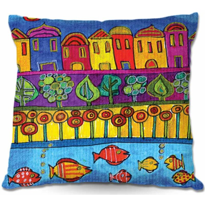 East Urban Home Couch Fishing Village Square Throw Pillow Wayfair