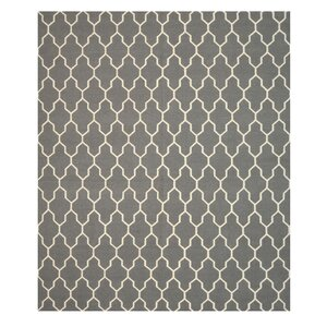 Hand Knotted Gray Area Rug