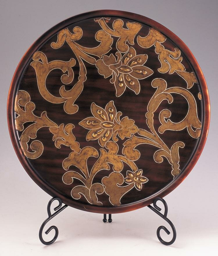Fried Decorative Plate With Stand