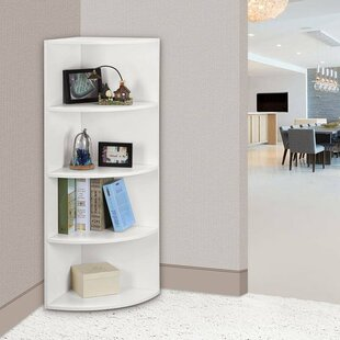Shanklin 5 Tier Corner Unit Bookcase by Ebern Designs