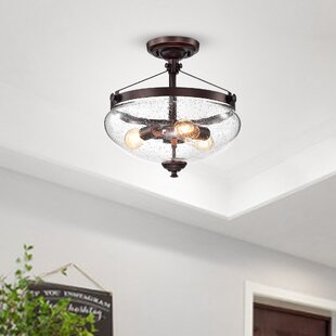 Breakwater Bay Celestine 3-Light Semi Flush Mount