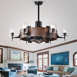 Christa Faux-Wood 3 Blade Ceiling Fan with Remote, Light Kit Included by 17 Stories