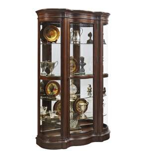 Gwinnett Lighted Curio Cabinet by Astoria Grand