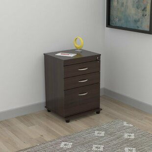 Fraley Engineered Wood 3-Drawer Vertical Filing Cabinet
