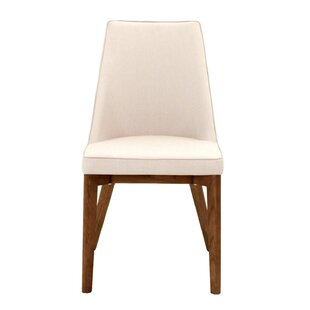 Berner Upholstered Dining Chair in Antique White (Set of 2) Brayden Studio