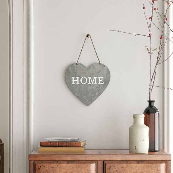 Heart Shaped Home Sign Wall Decor Reviews Birch Lane