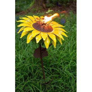 Desert Steel Sunflower Garden Torch