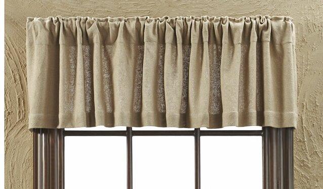 roxane burlap natural curtain valance