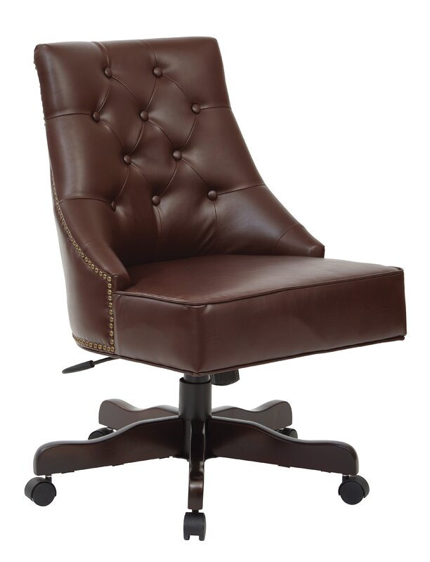 Rebecca Tufted Mid Back Fabric Desk Chair