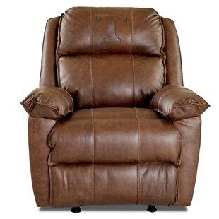 Brandt Elite Fan Furnishings Leather Manual Rocker Recliner by Klaussner Furniture