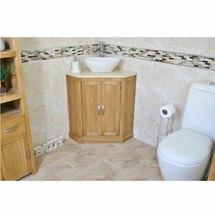 Delorenzo Solid Oak 550mm Free-Standing Vanity Unit By Belfry Bathroom
