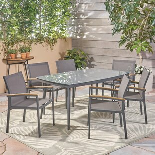 Wrought Studio Kingstowne Outdoor 7 Piece Dining Set