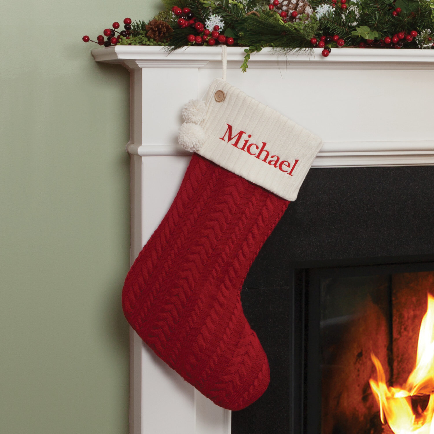 The Holiday Aisle Cable-Knit Personalized Stocking & Reviews | Wayfair