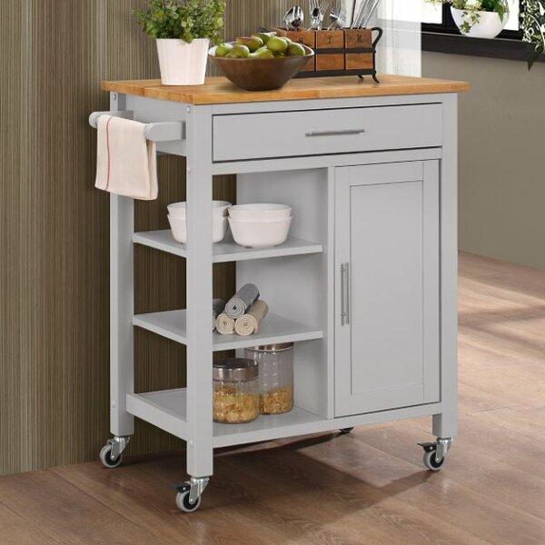 Three Posts Newfane Kitchen Cart & Reviews