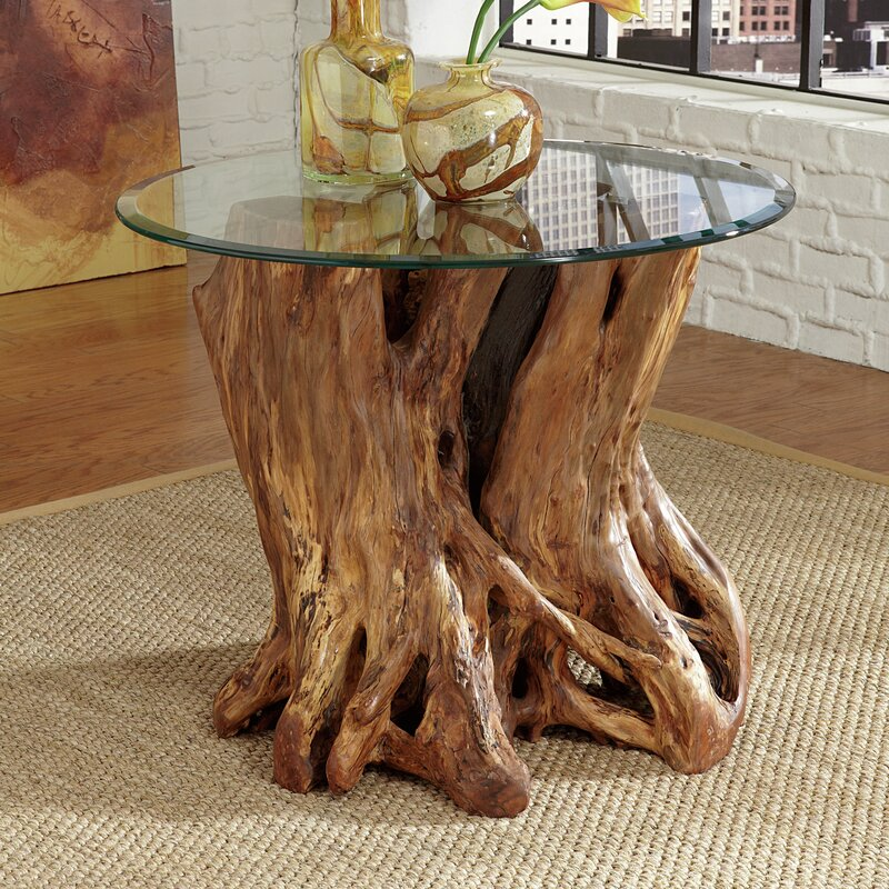 Charming Winooski Root Ball End Table