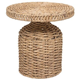 Katia Round Water Hyacinth End Table by Bay Isle Home
