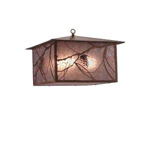 Meyda Tiffany Whispering Pines 4-Light Pendant