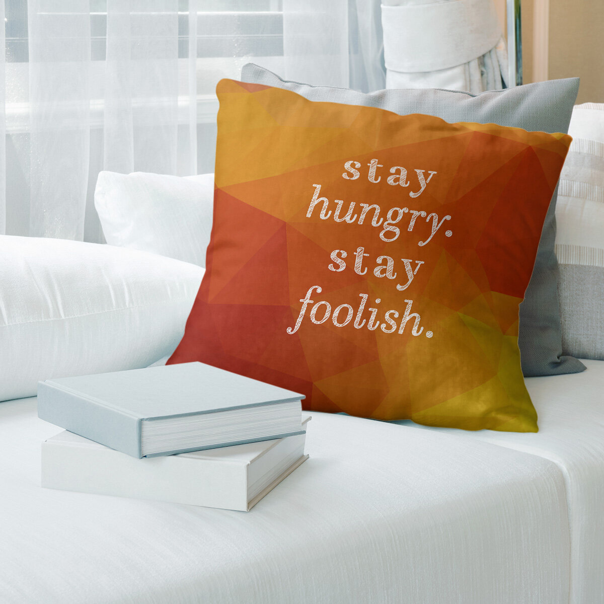 East Urban Home Faux Gemstone Stay Hungry Quote Pillow Wayfair