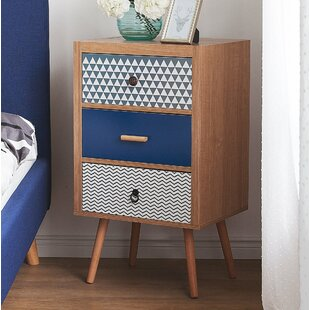Tracie 3 Drawer Nightstand by Wrought Studio