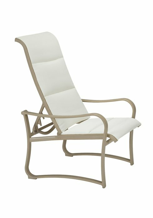 Shoreline Padded Sling Recliner Patio Chair