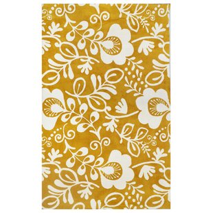 Look for Microplush Yellow Area Rug By Tuft & Loom