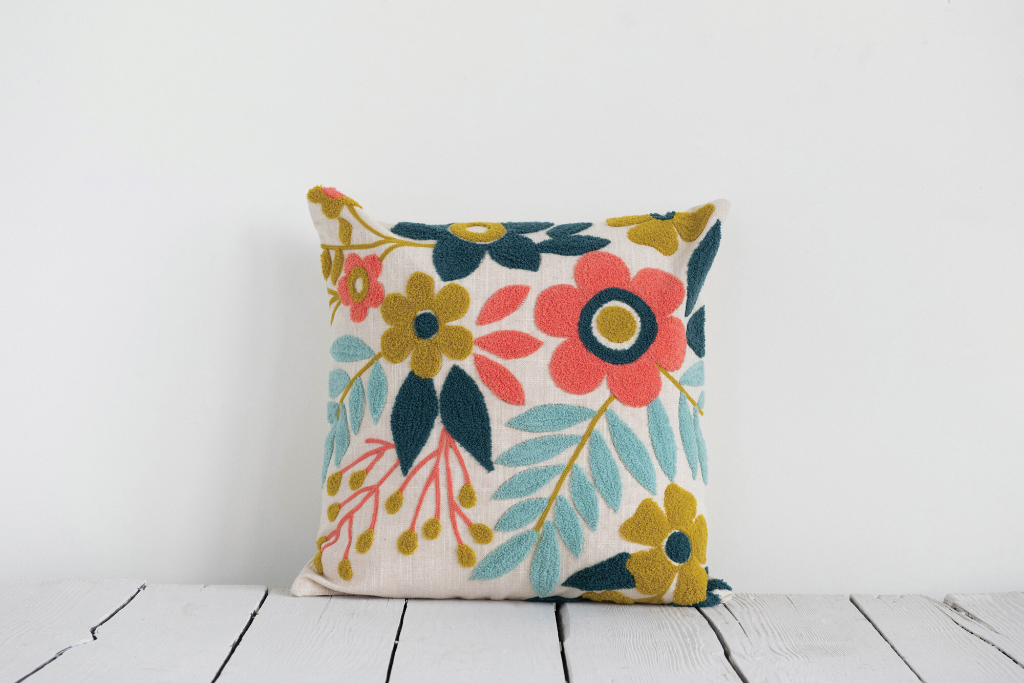 Rosalind Wheeler Tatum Cotton Floral Throw Pillow Wayfair