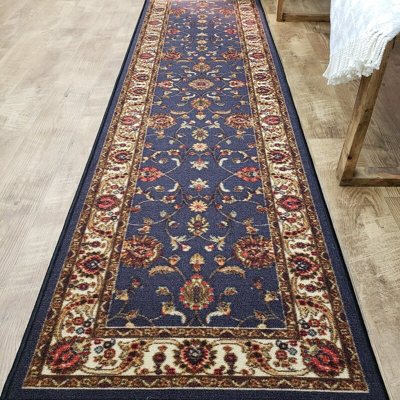 Charlton Home Kinnear Floral Black Area Rug Wayfair