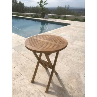 Rosecliff Heights Chatham Square Round Folding Teak Bistro Table