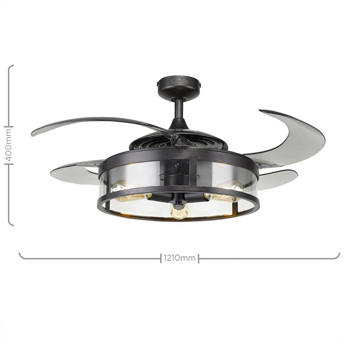 121cm Fanaway 4 Blade Ceiling Fan With Remote Control