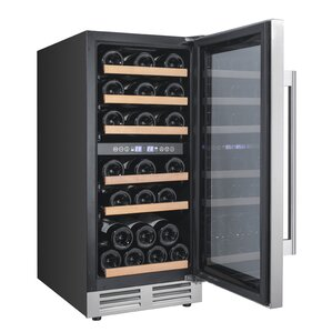 28 Bottle Designer Series Dual Zone Freestanding Wine Cooler by Avanti Products