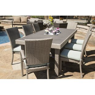Keighley 9 Piece Dining Set with Cushions