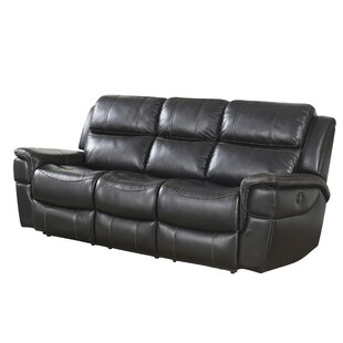 Twomey Leather Reclining Sofa Red Barrel Studio