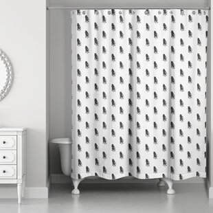 Nowell Tassel Print Shower Curtain