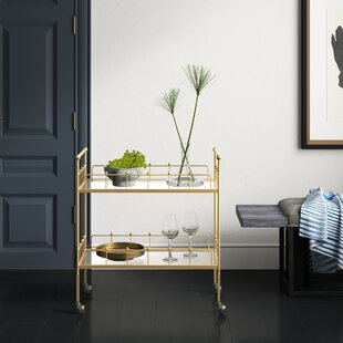 Vadnais 2-Tier Rectangular Bar Cart by Mercury Row