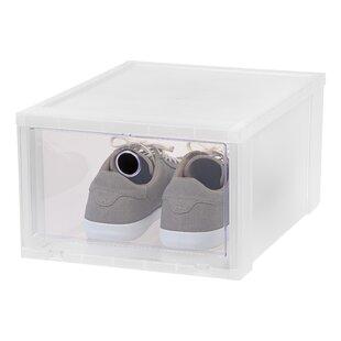 IRIS USA, Inc. Wide Stackable Shoe Storage Box