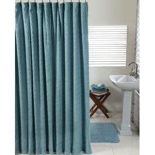 Waves Cotton 2 Piece Shower Curtain Set