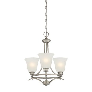 Amee Traditional 3-Light Shaded Chandelier by Red Barrel Studio