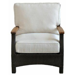 Seagle Teak Patio Chair with Cushions by Ebern Designs
