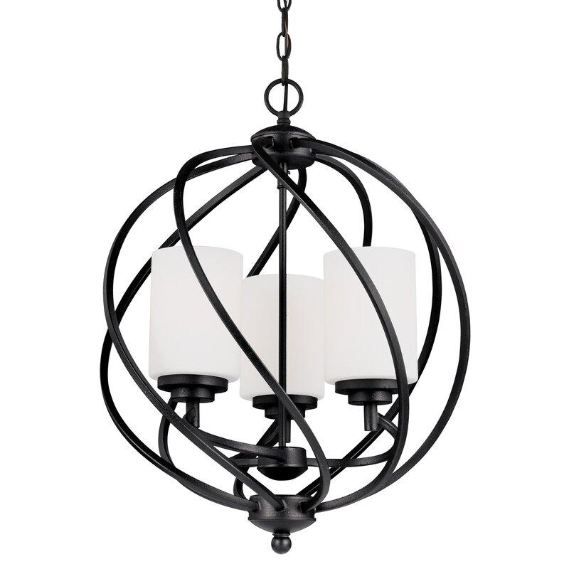 Brayden Studio Redington 3 Light Globe Chandelier