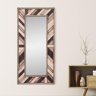 rustic wood mirror bathroom catalano rustic wood wall mounted mirror barn wayfair
