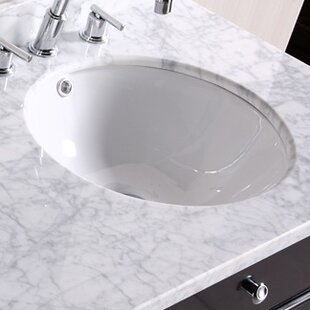Top Reviews Ceramic Circular Undermount Bathroom Sink with Overflow By Royal Purple Bath Kitchen