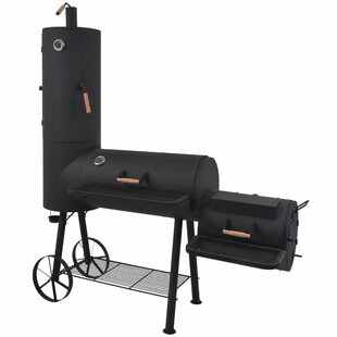BBQ Offset Charcoal Smoker And Grill By Symple Stuff
